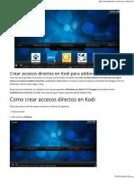 Crear Accesos Directos en Kodi Para Addons