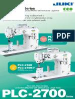 Product Manual - Juki PLC-2700 (2 Needle Post)