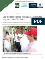 05-12-2016 Los Mejores Apoyos Serán Para Los Adultos Mayores_ Neto Robinson