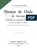 Saint-Yves d'Alveydre Joseph Alexandre - Mission de l'Inde en Europe.pdf