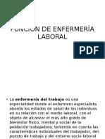 Función de Enfermería Laboral
