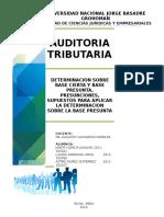 Auditoria Tributaria - PRESUNCIONES TRIBUTARIAS