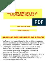 Tema 6. Aspectos Basicos, Pilares, Articulacion y Medios de Descentralizacion