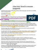 North Korea Nuclear Test_ Seoul to Resume Cross-border Propaganda - World News - The Guardian