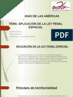 Derecho Penal -APLICACION DE LEY ESPACIAL