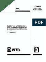 COVENIN 2541-99 Tubería de Revestimiento