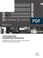 BEHRINGER FBQ3102  -  MANUAL del USUARIO