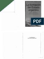 La Formacion Del Estado Argentino -Oszlak