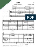 Visèe for clarinet Trio - Score