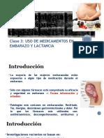 CLASE 3 Farmacología Poblaciones Especiales I EMBARAZO Y LACTANCIA