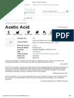 Acetic Acid Pub Chem
