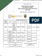 Agenda - Teoria General de Sistemas - 2016 i Periodo 16-01 (Peraca 288)