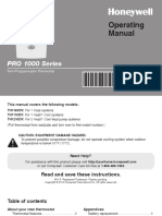 Honeywell - Pro1000 User Manual
