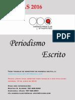Reglas Periodismo Escrito 2016