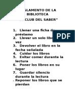 Reglamento de La Biblioteca
