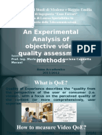 An Experimental Analysis of Objective Video Quality Assessment Methods