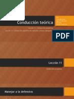Teorías de la conducción - Conducción de cisternas o tanqueros