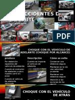 Educación vial - Tipos de accidentes de tránsito