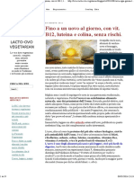 LACTO-OVO VEGETARIAN_ Fino a Un Uovo Al Giorno, Con Vit. B12, Luteina e Colina, Senza Rischi