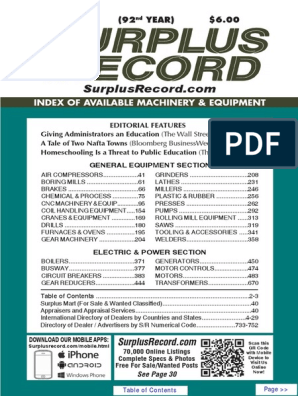 June 2016 (92 Year) $6 00 Paid: Index Of Available Machinery