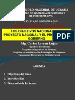 Semana 9 - Los Objetivos Nacionales, el Proyecto Nacional y el Proyecto de Gobierno.pdf
