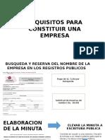 Requisitos Para Const Una Empresa
