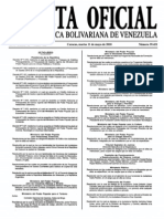 Sumario Gaceta Oficial 39.421