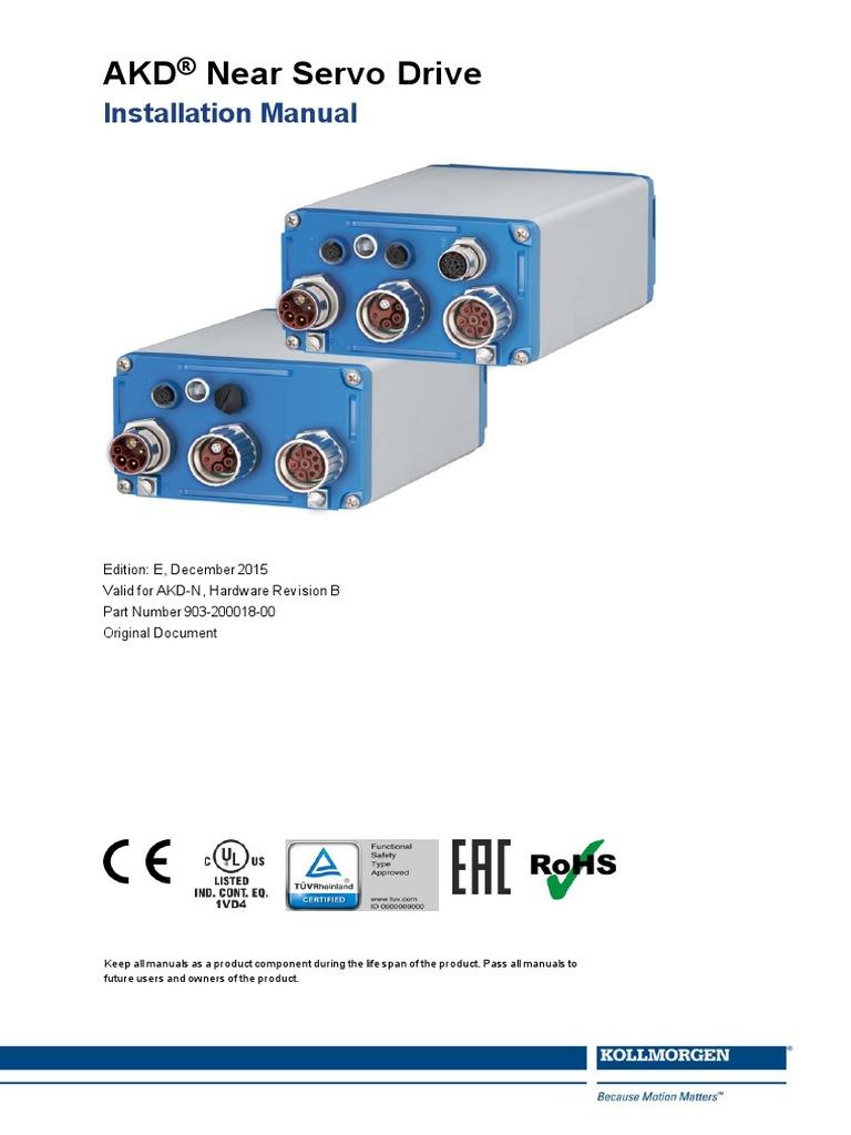 Kollmorgen AKD-N Servo Drive Installation Manual (1