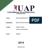 Informe Sedapal - Harold Castro