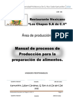 Manual de Procedimientos Restaurante