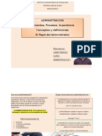 ADMINISTRACION conceptos fundamentales, elementos ,procesos