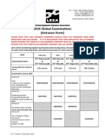 LEEA - 2016 Examination Entrance Form Version