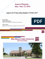 NMSU Regents Budget Powerpoint - May 13, 2016