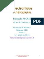 Cours Electronique UE12P