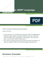 Unit 4 - Basic ABAP statements, ABAP Structures and ABAP Logical Expressions