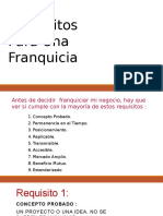 Requisitos de Una Franquicia