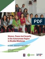 Women, Peace and Security in the Autonomous Region in Muslim Mindanao