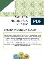 Sastra Indonesia Klasik