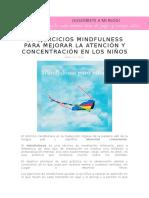 10 Ejercicios Mindfulness Para Mejorar La Atención y Concentración en Los Niños