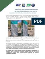 Comunicado de Los Sindicatos de La Policía de España