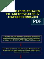 Clase Efectos Estructurales en La Reactividad