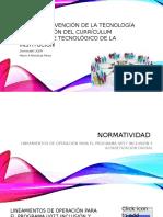 la intervención de la tecnología en la gestión del currículum