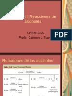 Capítulo 11 Reacciones de  alcoholes