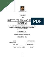 Institute Management Report