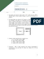 Lista de Exerccios i - Fundamentos Da Termodinmica - 2014.2