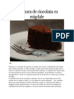 Prajitura de Ciocolata Cu Migdale