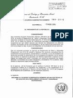 AG-199-2015 ACUERDO GUBERNATIVO GUATEMALA