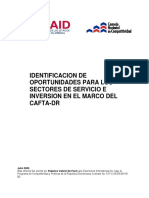 Identificacion de Oportunidades Para Sectores Servicio e Inversion en El Marco Del Dr Cafta Usaid 2005
