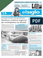Edición Impresa El Siglo 14-05-2016
