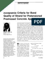 Reference #06 - JNL-MA97-1 Strand Bond Acceptance Criteria